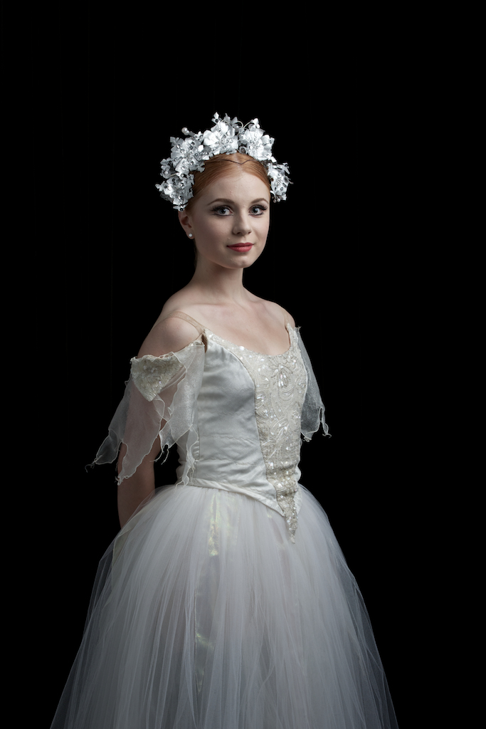 Mia as a Snowflake from the Nutcracker. Photgraphy: David Kelly. Image courtesy of the Queensland Ballet.