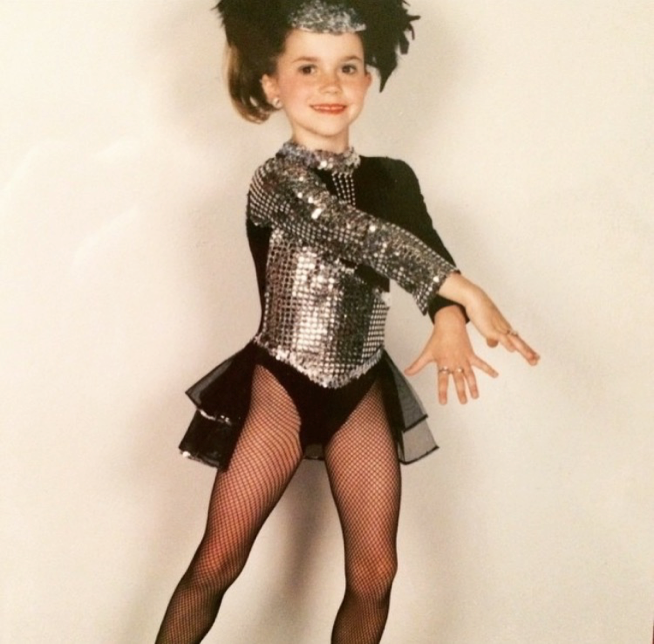 Megan as a youngster at dance