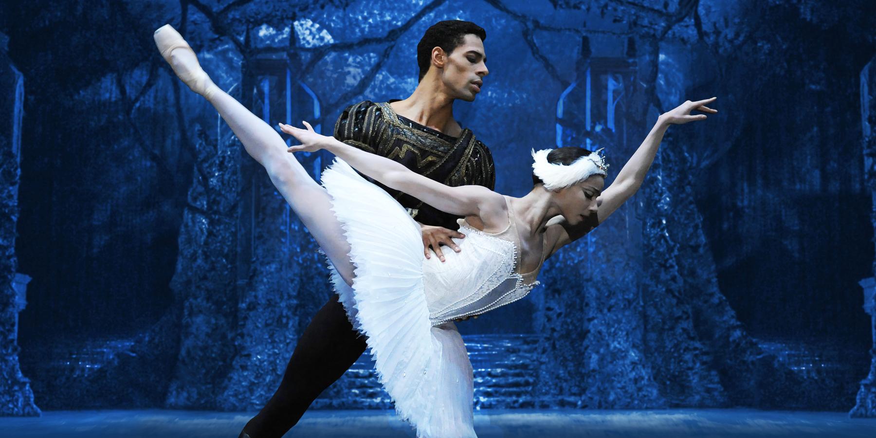 Celine in Swan Lake with Tyrone Singleton for the Birmingham Royal Ballet