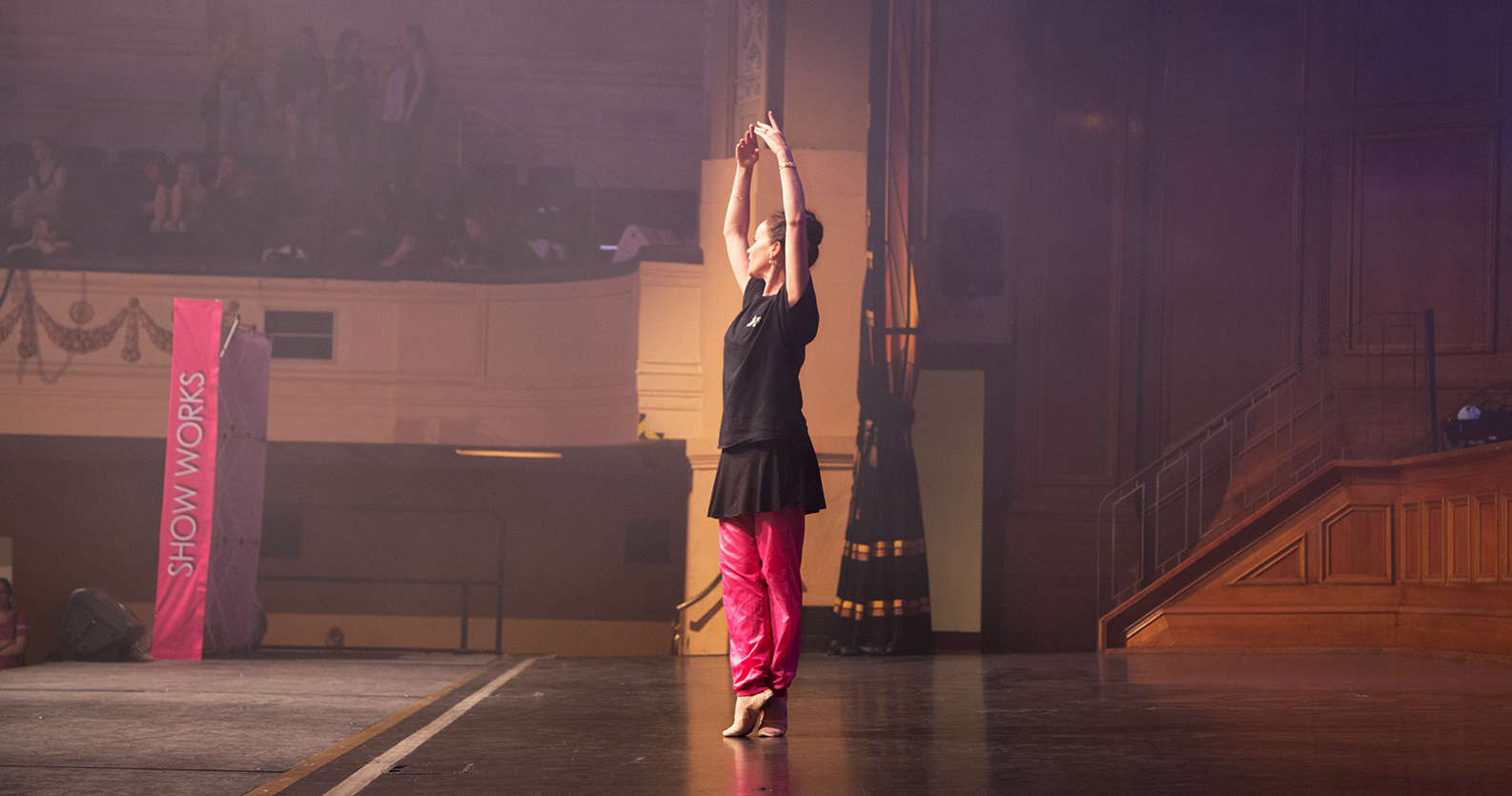 The exquisite Lucinda Dunn, former Principal with the Australian Ballet taking ballet class on the Saturday.