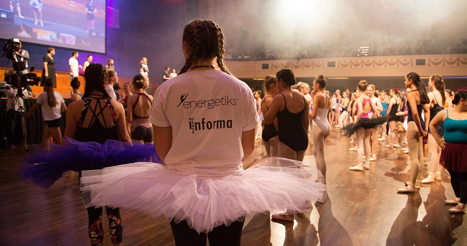 Dancers prepare for the Pointe Shoe World Record