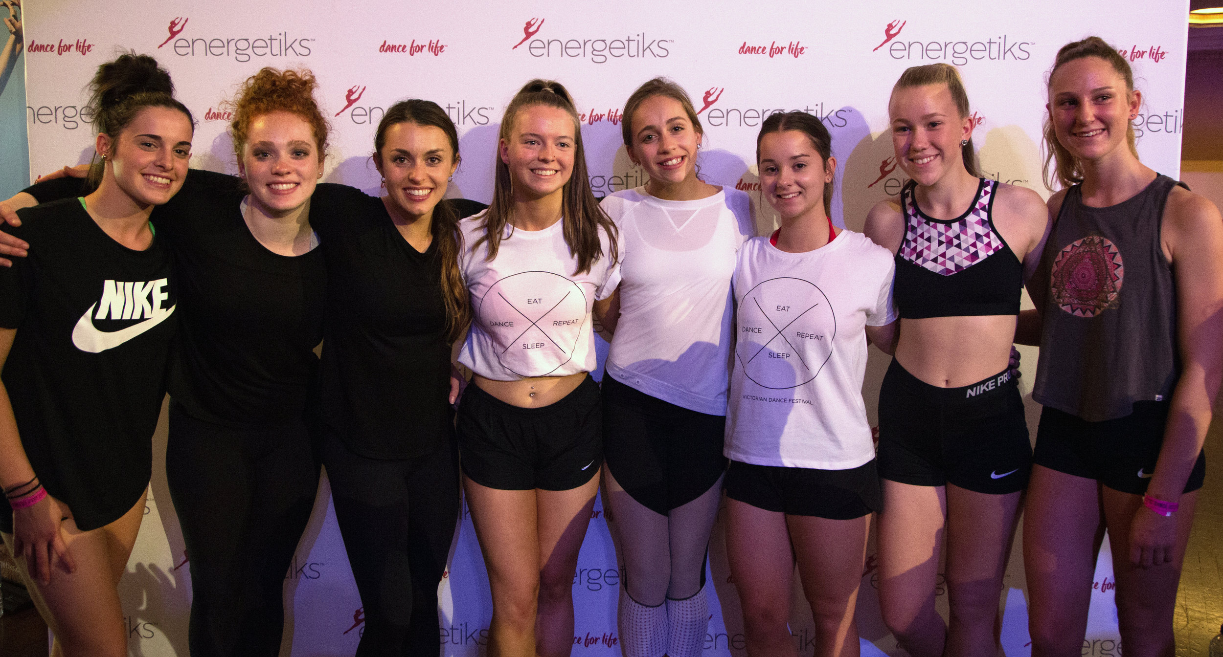 Energetiks meet and greet with Kathryn McCormick, Tate McRae and Sarah Frangenberg