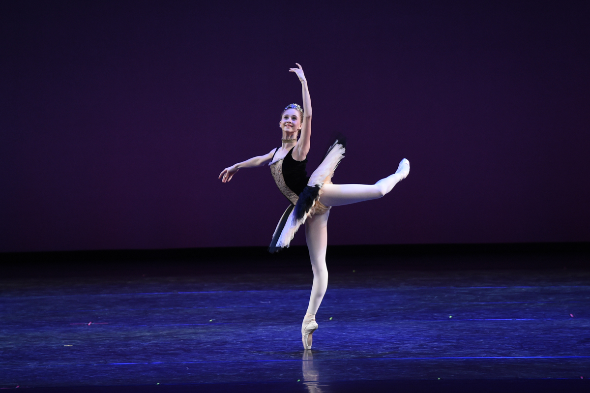 Bianca Scudamore competing at the YAGP where she received the Bronze Medal in 2015