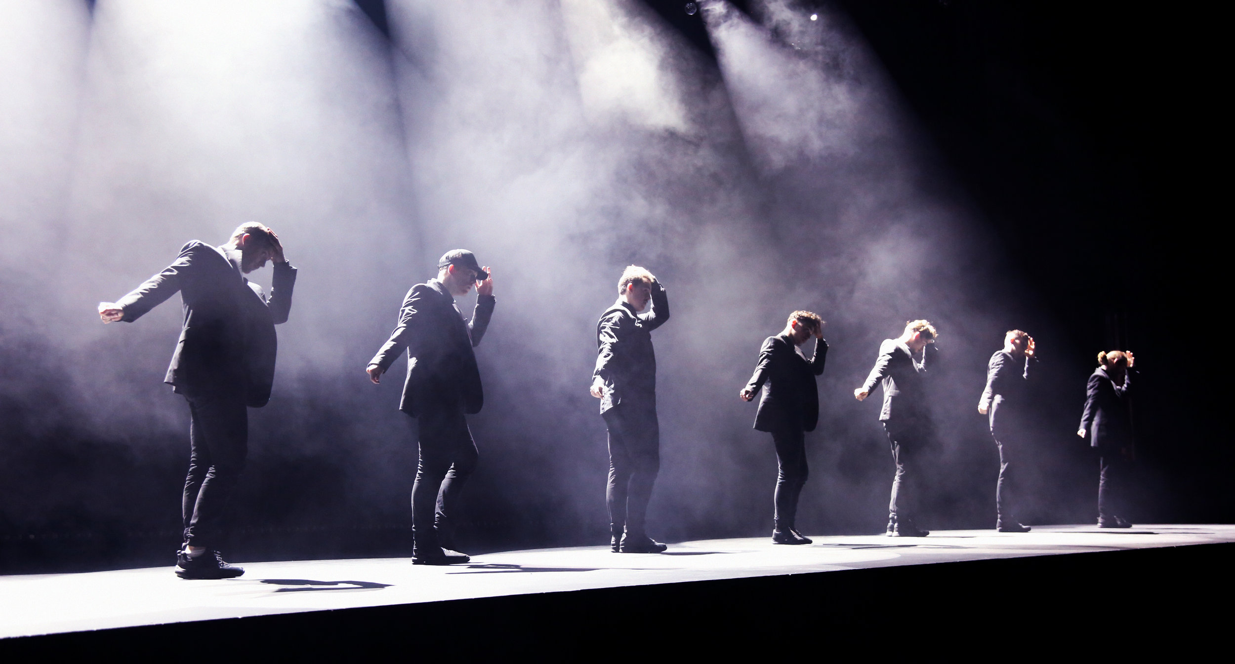 The Dream Dance Company rehearsing 'The Secret Society' on-stage last year.