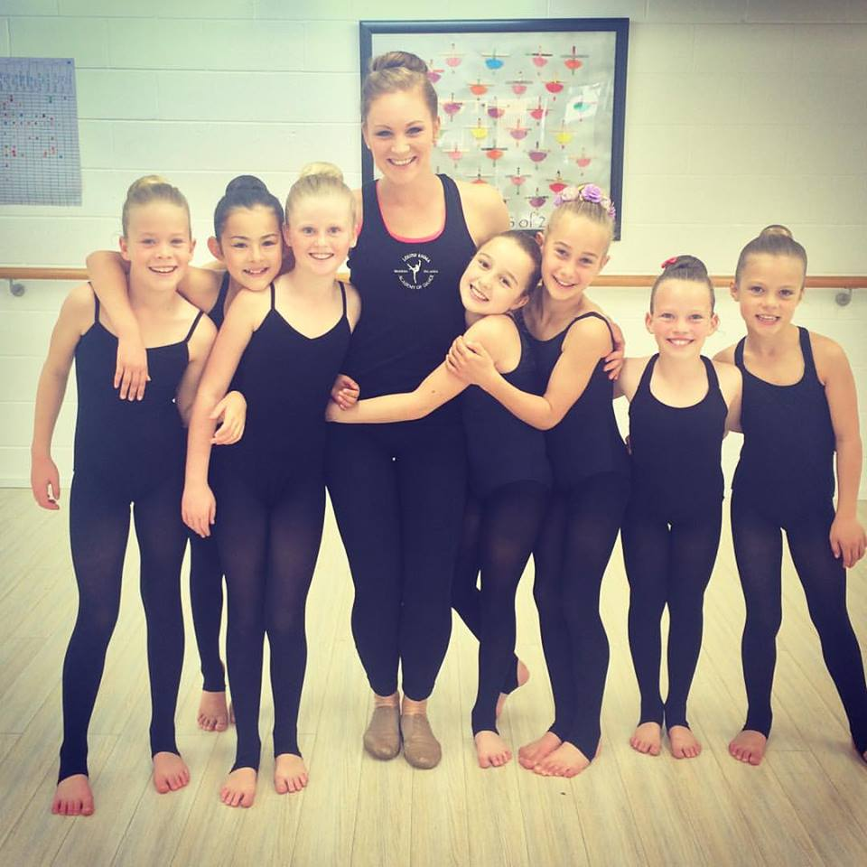 Louise with some of her students