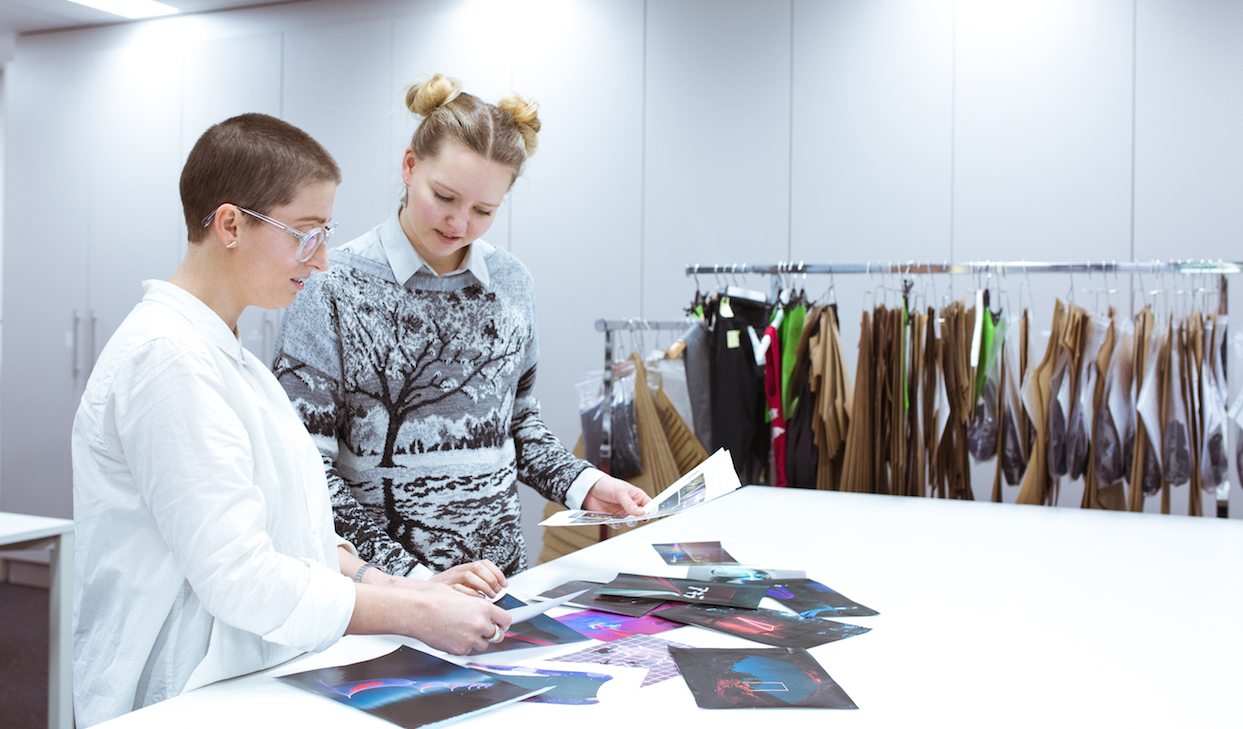 Our designers discuss key elements and themes from the Velocity moodboards that they want to translate into the final print