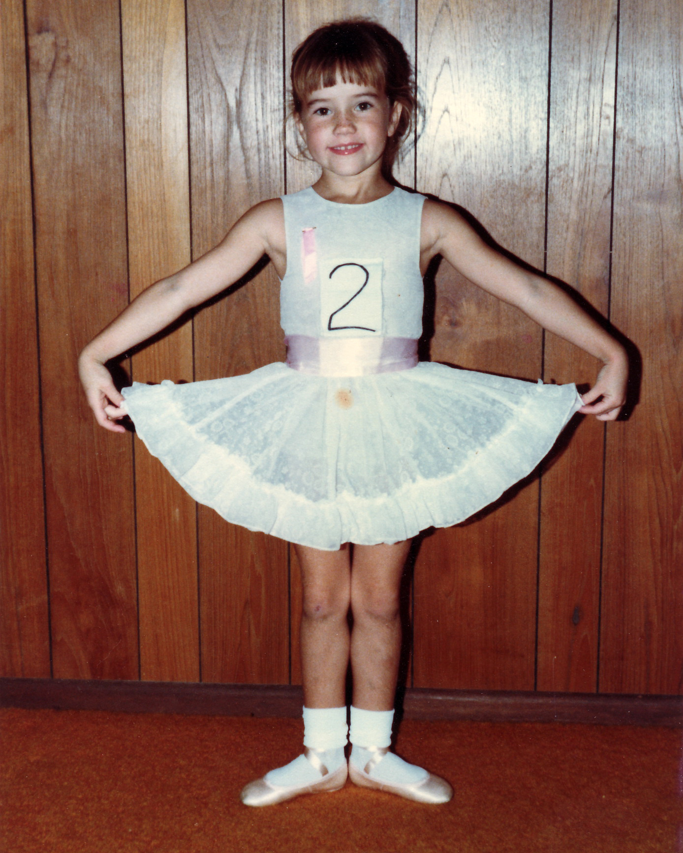 Lucinda Dunn as a youngster at ballet