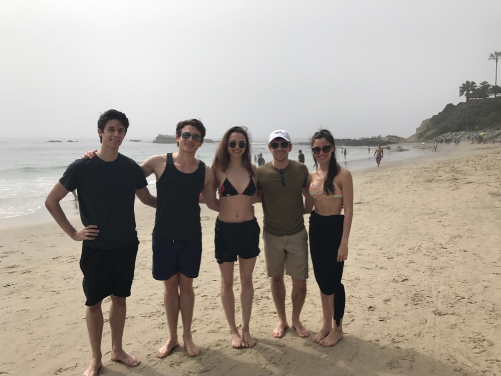At Laguna Beach on one of our free days