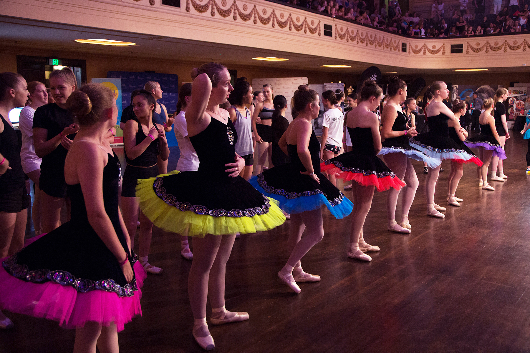 Dancers prepare for the World Record Attempt at VDF 2017