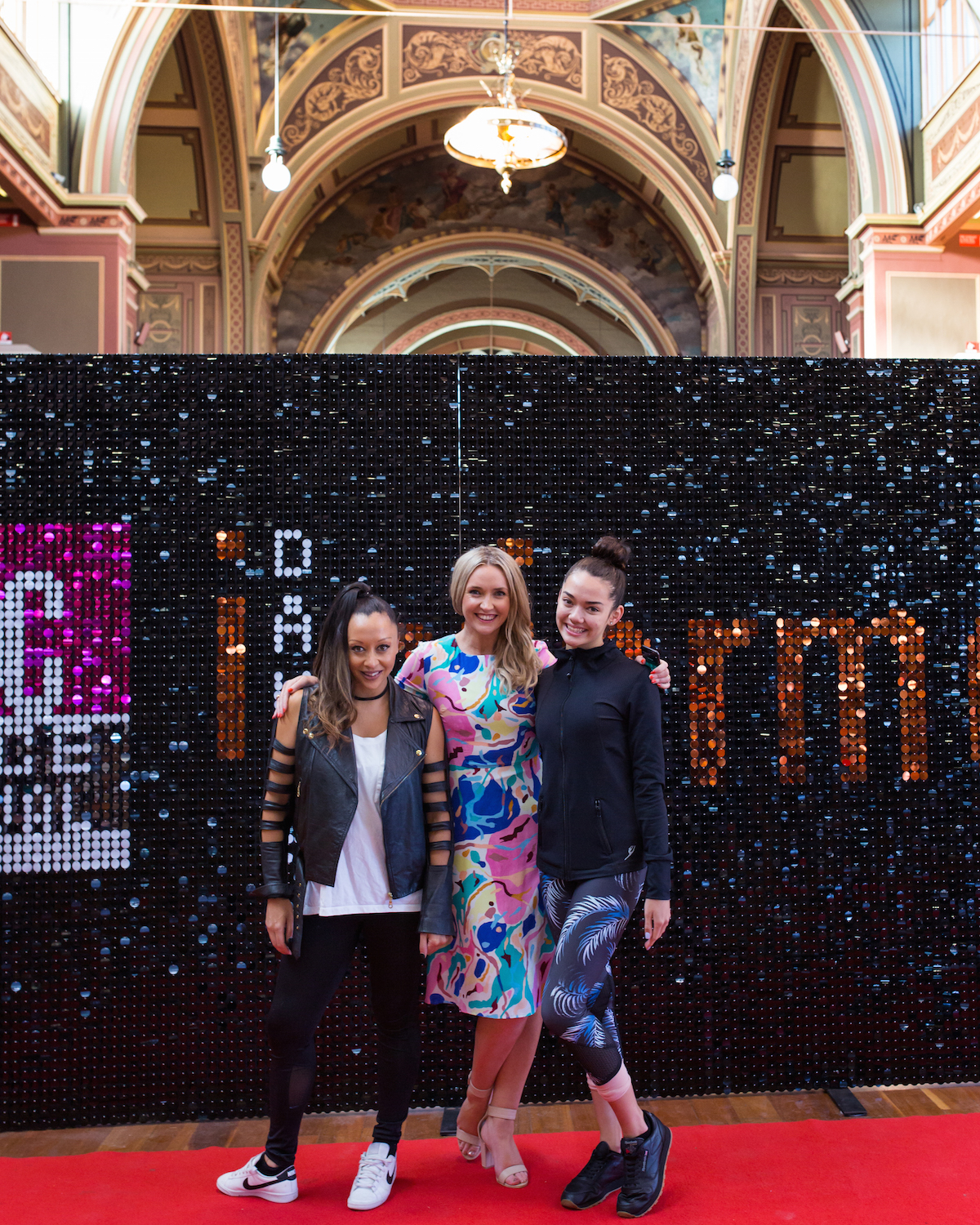 Yvette Lee, VDF's Artistic Director stands with Founder and Director Kate Meade and 2018 Ambassador Portia Talib in the final few quiet moments before the first day of the festival launches into full swing. Below: Portia Talib (left), The Energetiks Team (centre), and Ella McMillan - VDF's 2017 Ambassador, ready for day one!