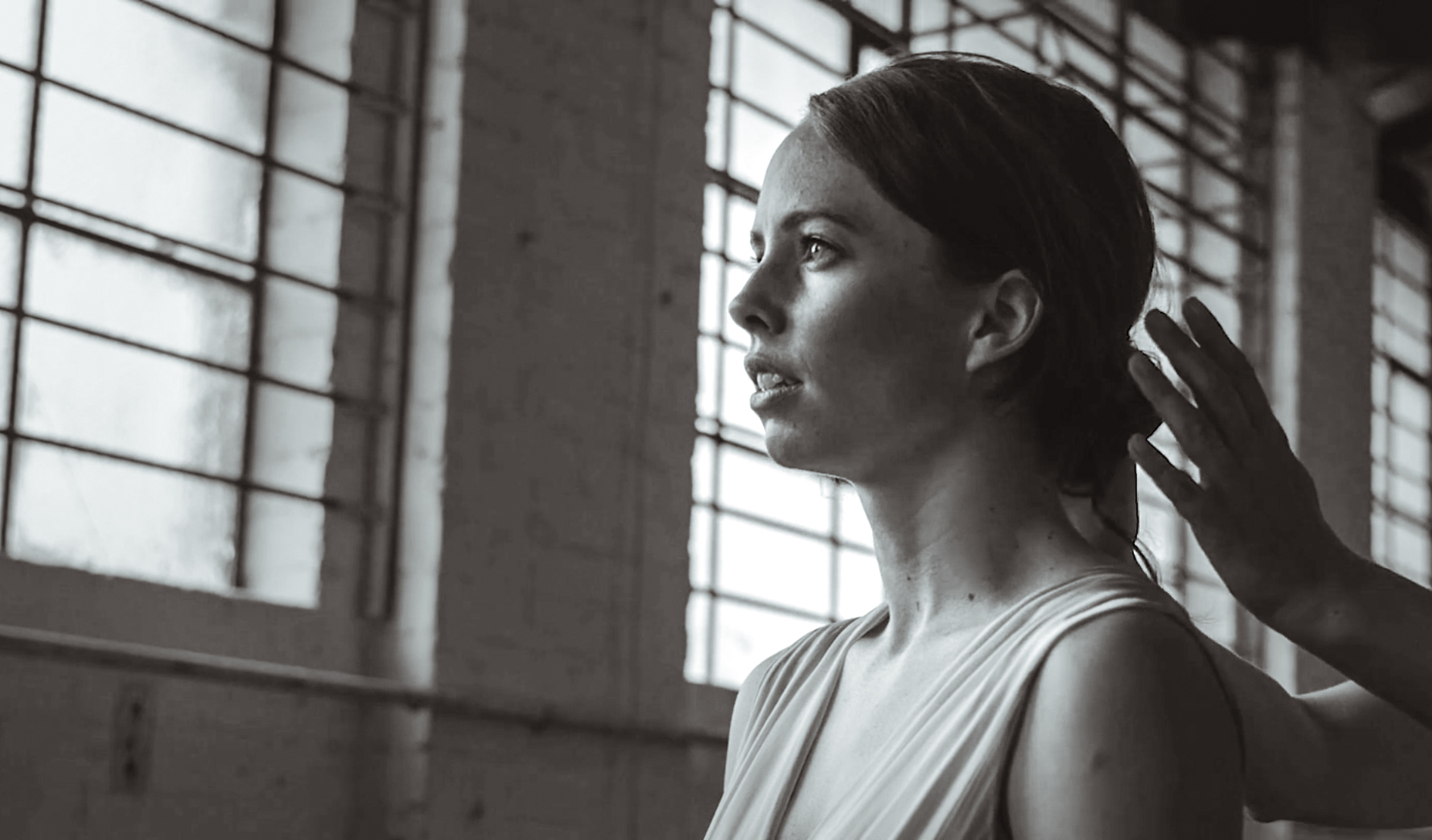 Lucy Doherty in a frame from her short dance film Reminiscence. Cinematography: Patrick Mazzolo