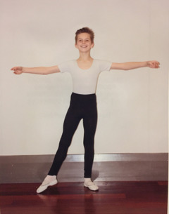 A young Tom shortly after starting dance. Photo: supplied