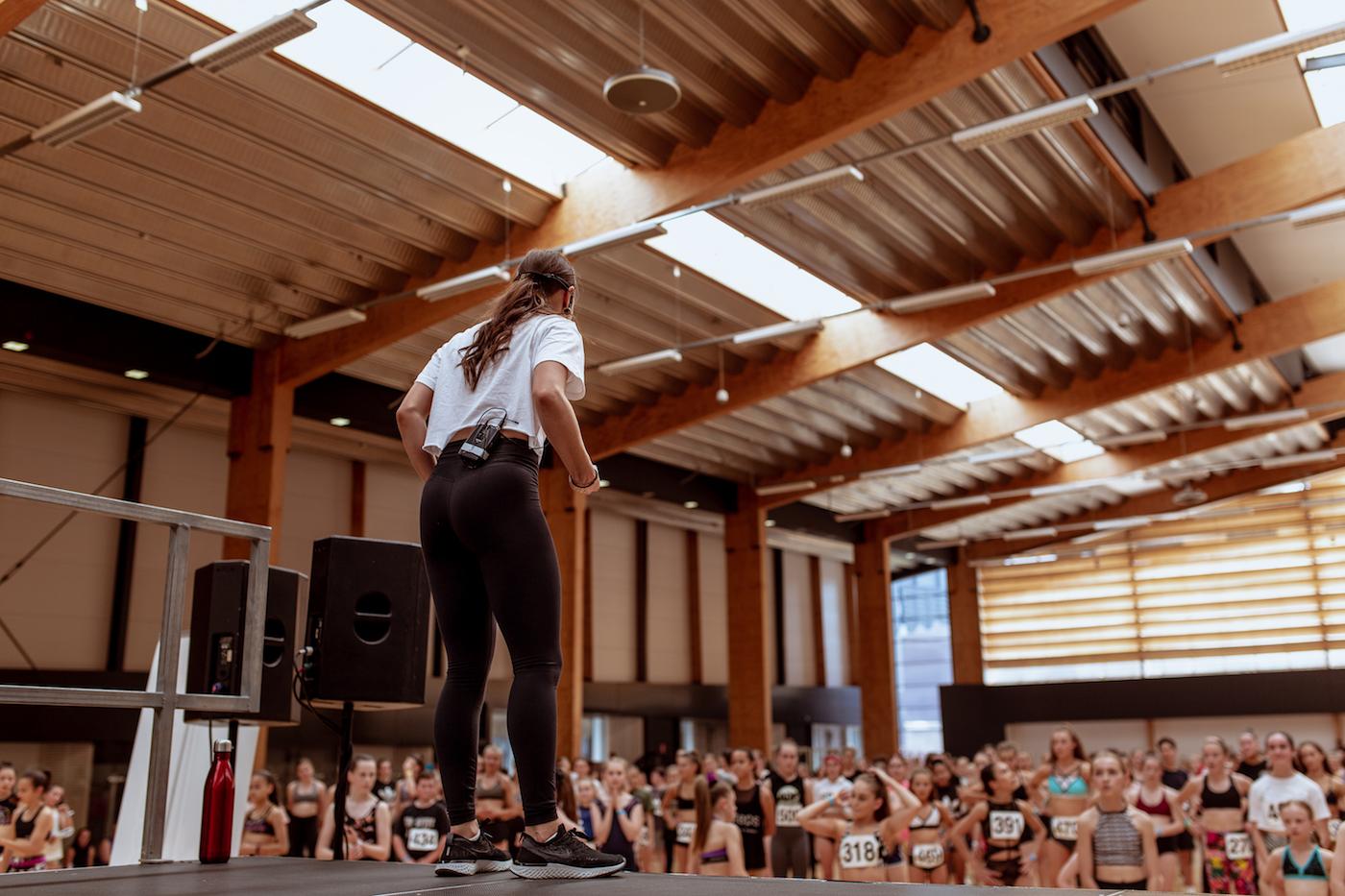 Dream Dance Company member Cat Santos taking class at ADF 2018