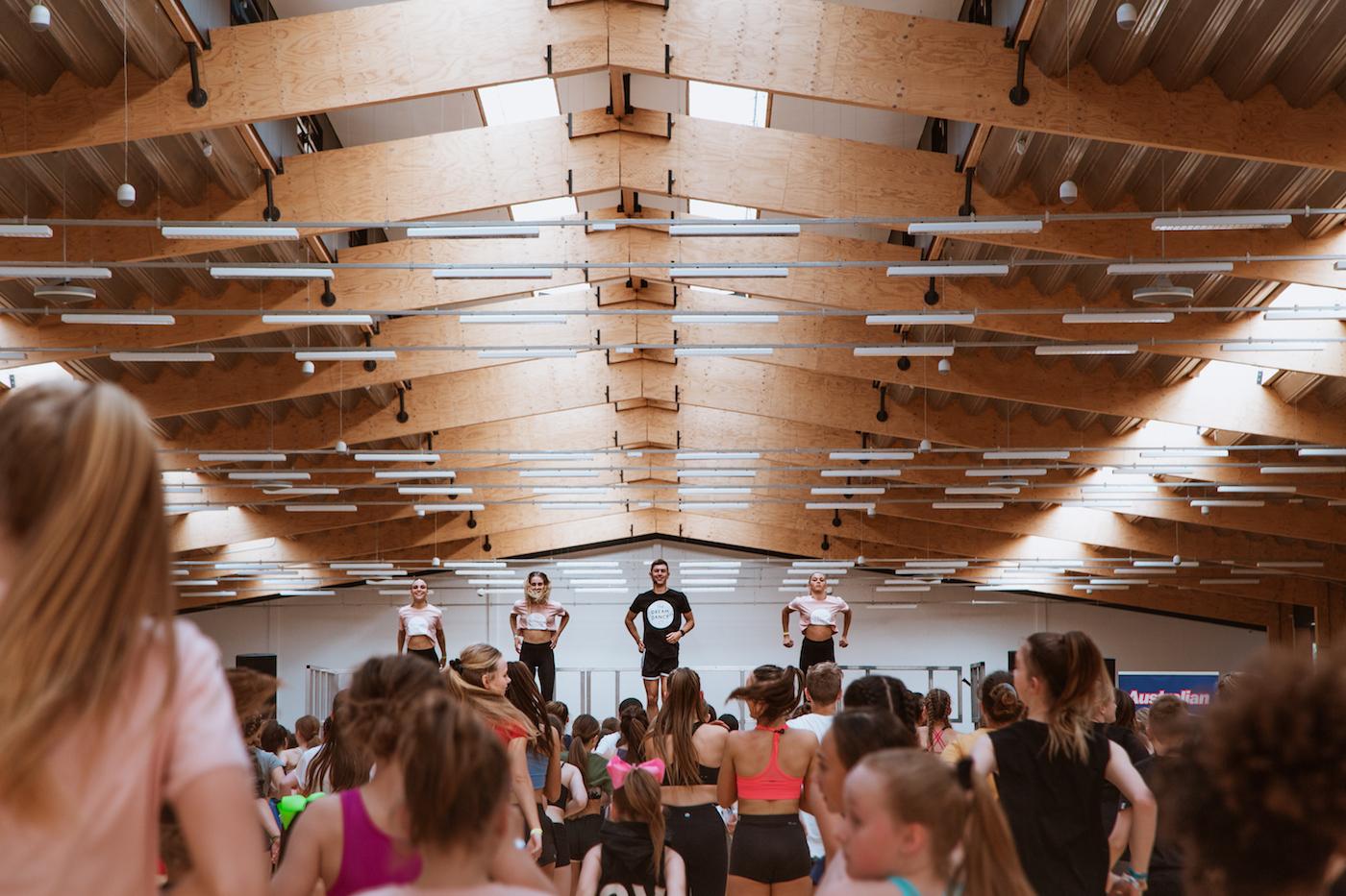 Dream Dance Company member Mitch Wynter teaching at ADF 2018