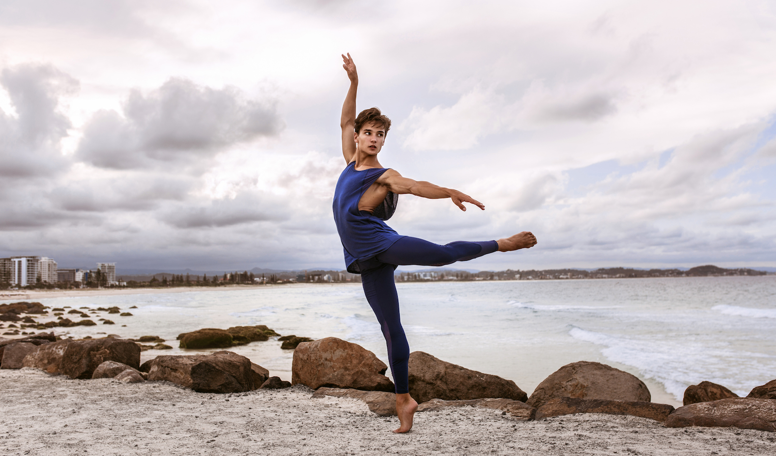Joel wears the  Aero Singlet  and  Alpha Leggings  from Energetiks  CODA Collection