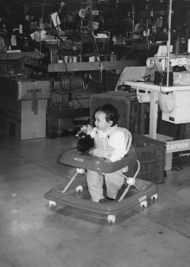 Karen's daughter Kirriley at the factory