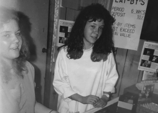 Gail and Lynda in 1989