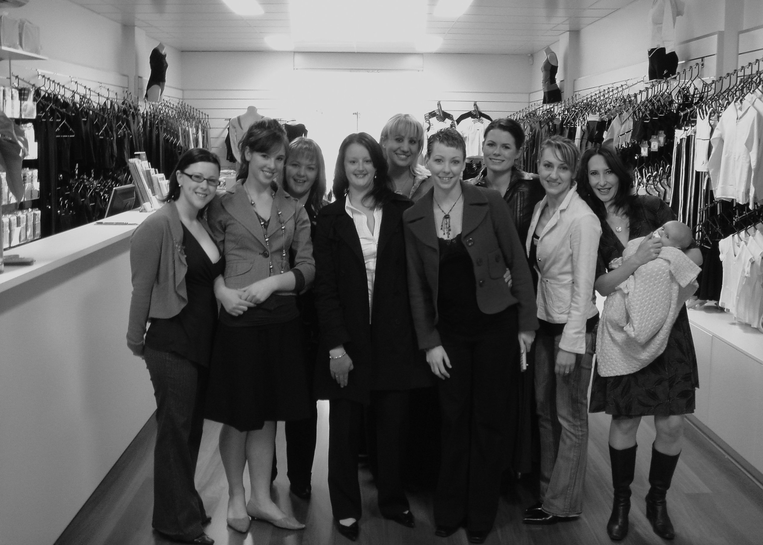 Gail, Lynda and Karen with their team at the opening of Energetiks Bentleigh