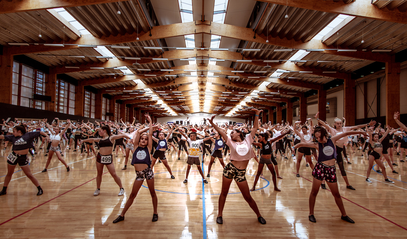 Feel the energy: Hundreds of dancers took to the floor to take part in last year's jazz workshop by Cat Santos