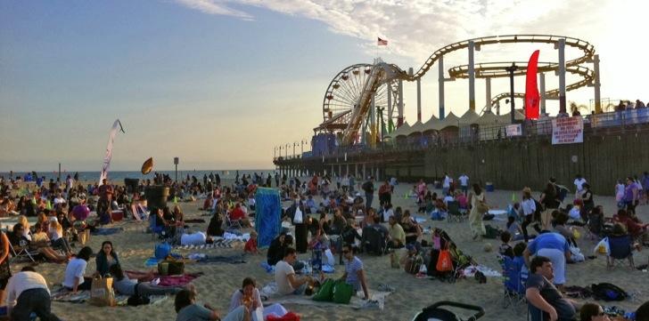 santa monica summer beach concert series