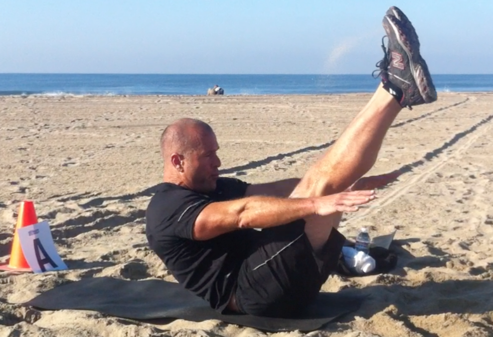 v-crunch boot camp fitness core exercise