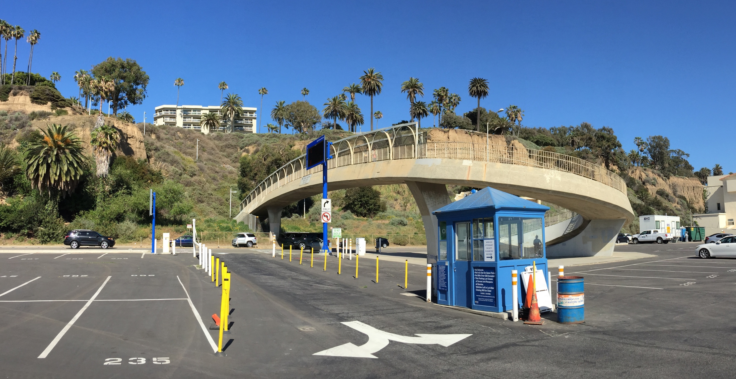 Entrance to LoT #8 parking lot.