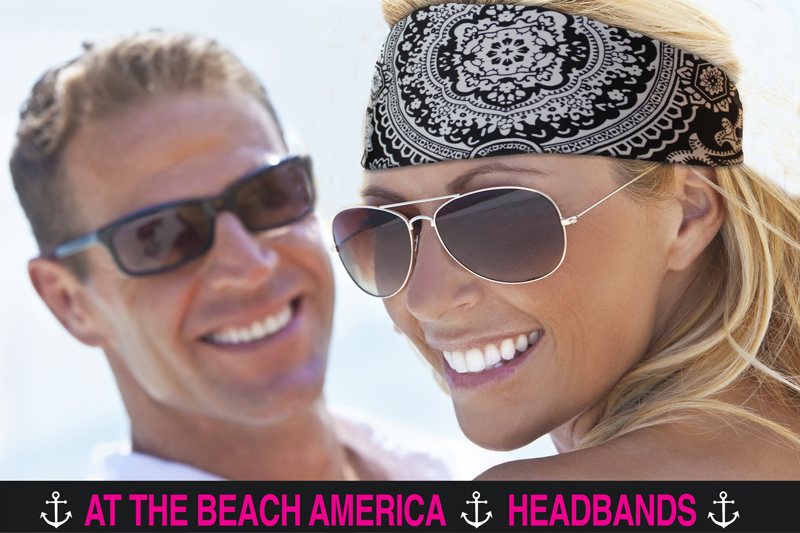 Bandana headband Black and White