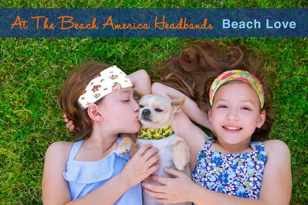 Aways Little Girls At Heart - At The Beach America Headbands