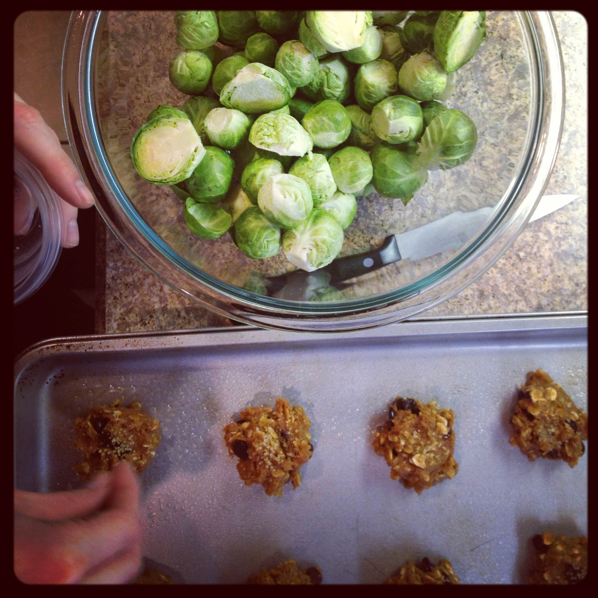 cookies and brussel sprouts.jpg
