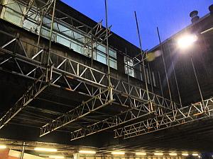 horley station   Scaffold Design Under Bridge