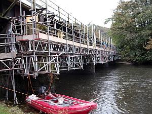 kingsford river bridge   SCAFFOLD DESIGN UNDER BRIDGE