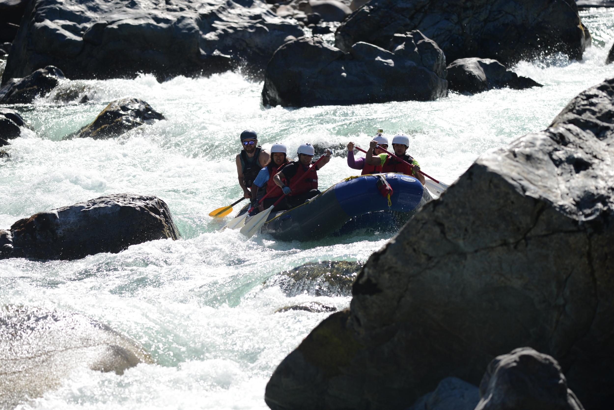 Skykomish River in low water. Guide: Blake Henderson.