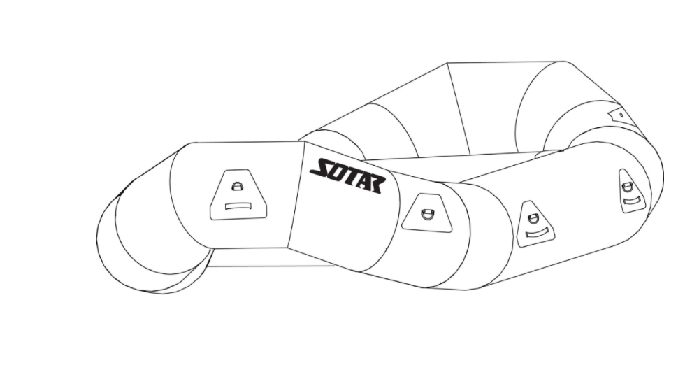 The Sotar ST 13 (uncustomized). Source:  https://sotar.com/products/sotar-st-13-classic-raft