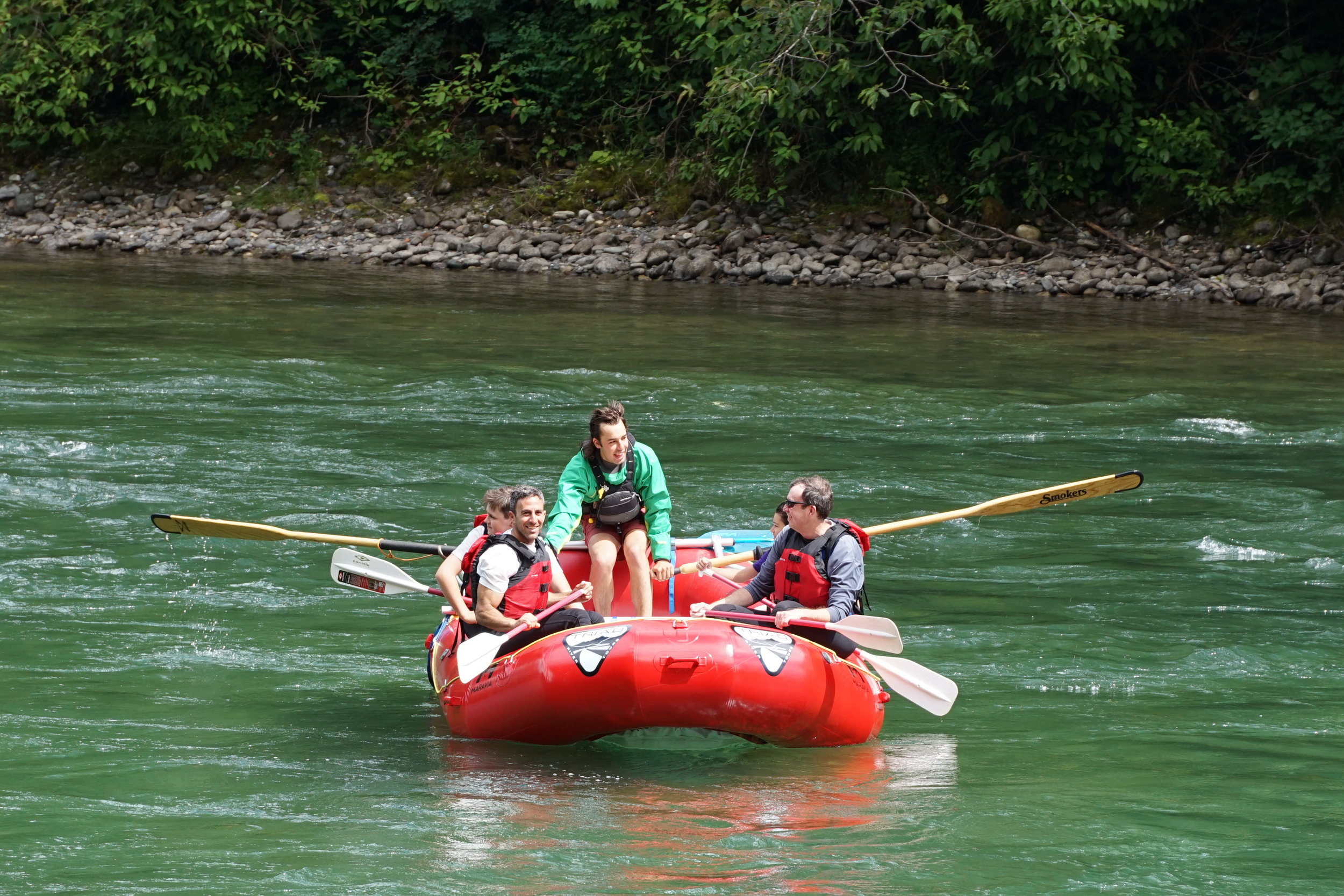 Triad River Tours uses self-bailing rafts on all of our rivers to ensure a safe and fun trip.