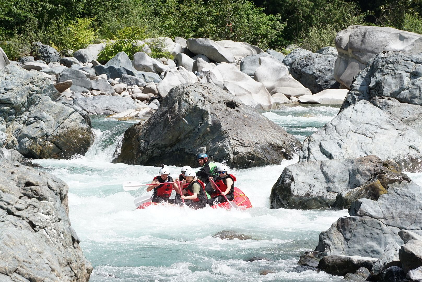 We hire fully trained guides to run our guests down the river. We take pride in putting safety first.