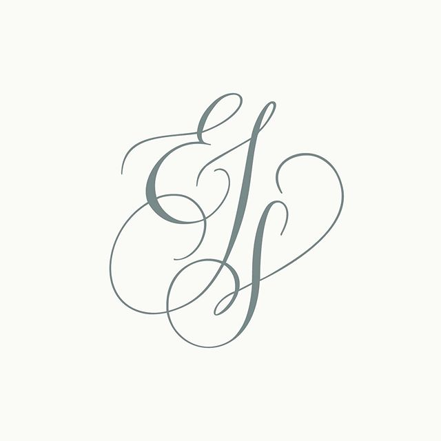 I love designing monograms but when it came time to update my own I felt stuck and was putting wayyy too much pressure on myself to create something perfect. I knew I needed to relinquish control and get out of my head! With the help of the sweetest human/master calligrapher @if_so_inklined my logo has been revived! I'm over the moon for it and it's a true testament that sometimes we just need to LET GO and trust in others... Thank you, Jen! 🙏🏼💞 #monogrammonday