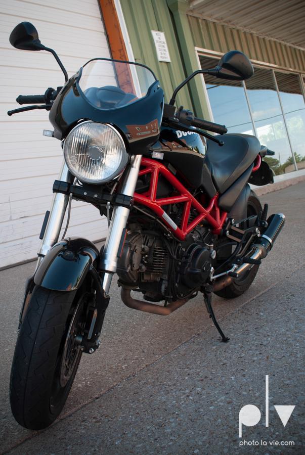 Tyler Ducati Monster DFW Texas motocycle bike jacket helmet red black vintage outdoors Sarah Whittaker Photo La Vie-6.JPG