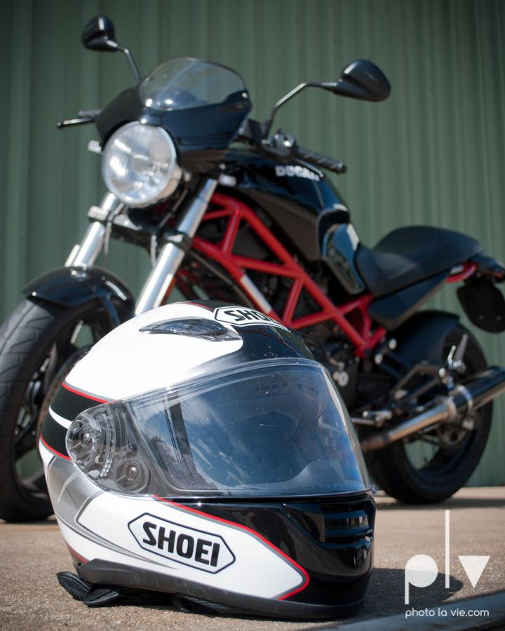 Tyler Ducati Monster DFW Texas motocycle bike jacket helmet red black vintage outdoors Sarah Whittaker Photo La Vie-10.JPG