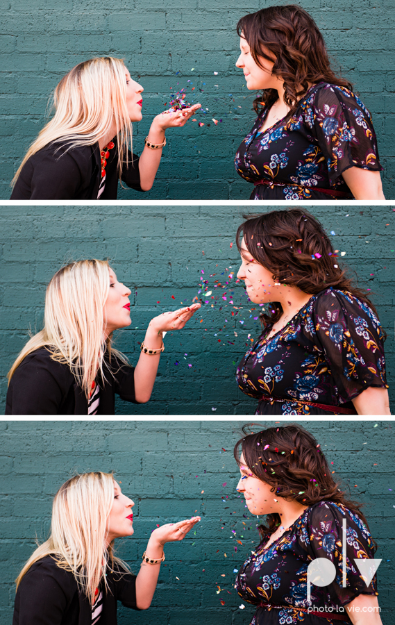 Dainty Dahlias Wedding Event Planner Team Brittany Simmons Katie Lane DFW Stockyards urban color wall brick party headshot Sarah Whittaker Photo La Vie-16.JPG