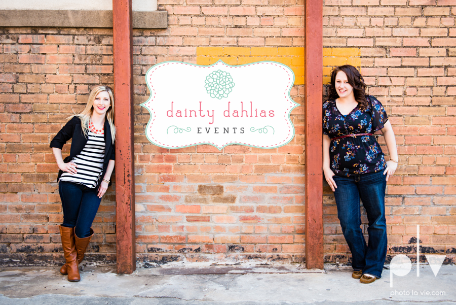 Dainty Dahlias Wedding Event Planner Team Brittany Simmons Katie Lane DFW Stockyards urban color wall brick party headshot Sarah Whittaker Photo La Vie-25.JPG