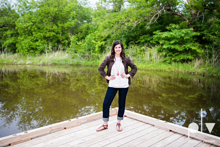 Senior Portrait session karah Woods Chapel vintage white girl texas Oliver Park nature field tree log pond worship sing Sarah Whittaker Photo La Vie-6.JPG