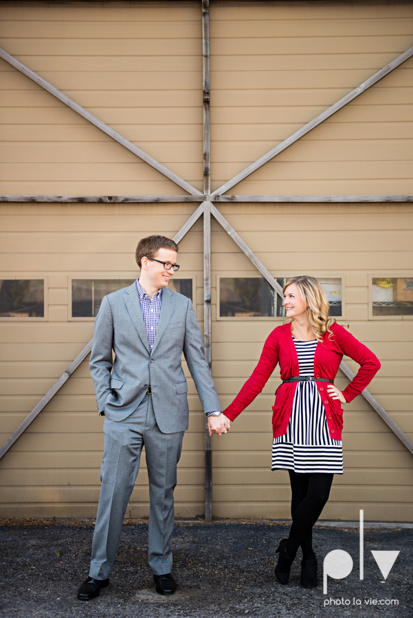 Engagement Fort Worth Texas portrait photography magnolia fall winter red couple Trinity park trees outside urban architecture Sarah Whittaker Photo La Vie-1.JPG