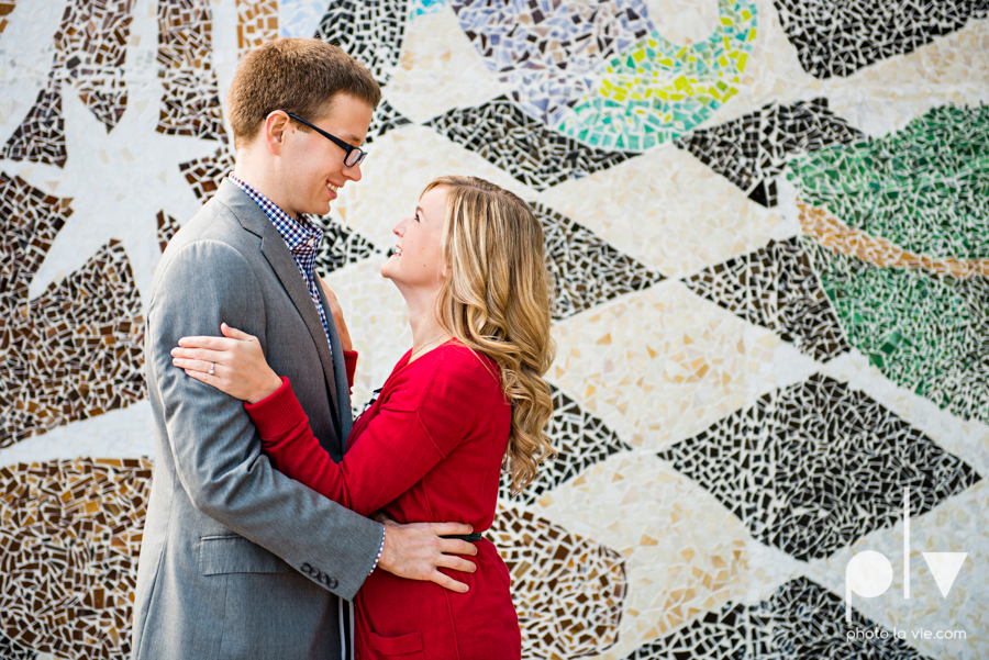 Engagement Fort Worth Texas portrait photography magnolia fall winter red couple Trinity park trees outside urban architecture Sarah Whittaker Photo La Vie-4.JPG