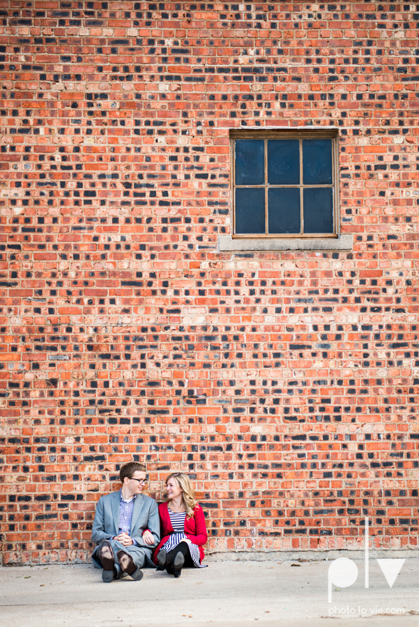 Engagement Fort Worth Texas portrait photography magnolia fall winter red couple Trinity park trees outside urban architecture Sarah Whittaker Photo La Vie-5.JPG