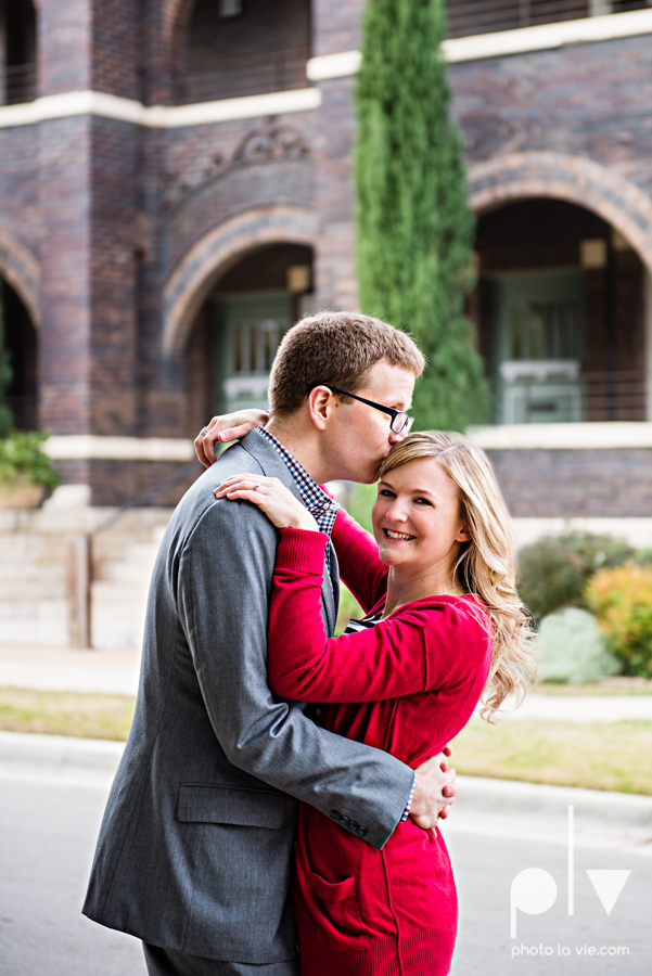Engagement Fort Worth Texas portrait photography magnolia fall winter red couple Trinity park trees outside urban architecture Sarah Whittaker Photo La Vie-8.JPG