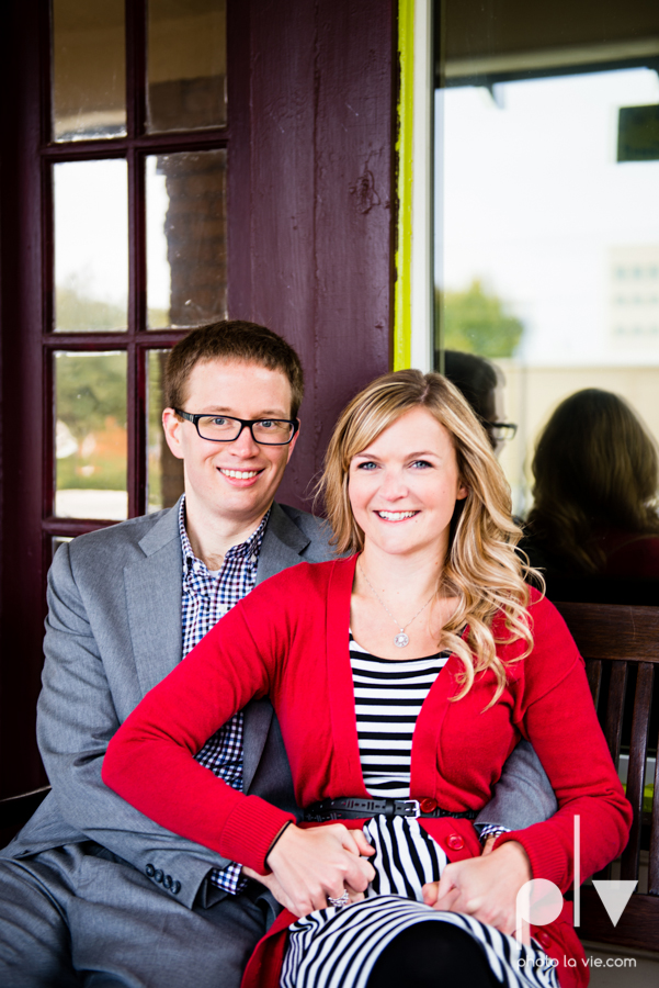 Engagement Fort Worth Texas portrait photography magnolia fall winter red couple Trinity park trees outside urban architecture Sarah Whittaker Photo La Vie-13.JPG