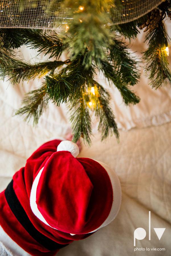 Levi christmas baby santa ornament DFW Texas studio session suit red boy toddler tree Sarah Whittaker Photo La Vie photography-1.JPG