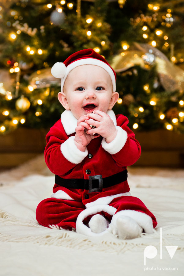 Levi christmas baby santa ornament DFW Texas studio session suit red boy toddler tree Sarah Whittaker Photo La Vie photography-2.JPG