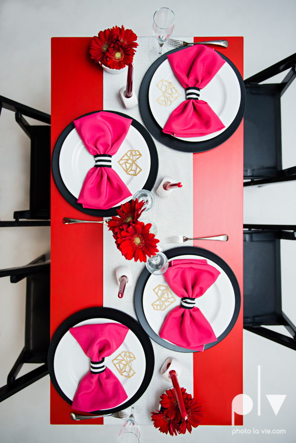 ValentinesDay Mini Session bridal shower theme styled gold black white pink red modern bold type text heart cake glitter statement stripes dot candle daisy singer bow Dainty Dahlias Sarah Whittaker Photo La Vie-6.JPG