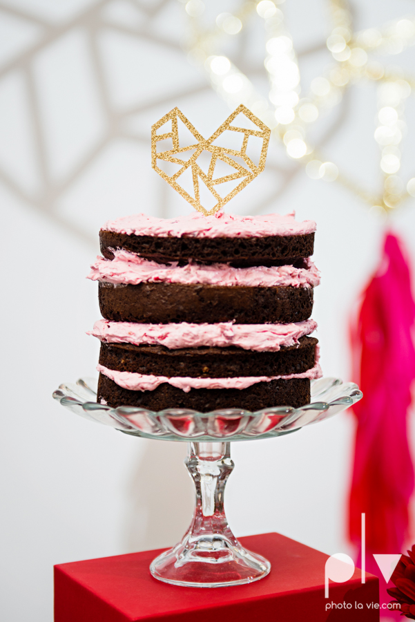 ValentinesDay Mini Session bridal shower theme styled gold black white pink red modern bold type text heart cake glitter statement stripes dot candle daisy singer bow Dainty Dahlias Sarah Whittaker Photo La Vie-10.JPG